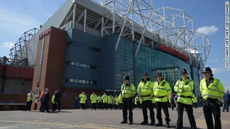 Manchester United's Old Trafford stadium evacuated