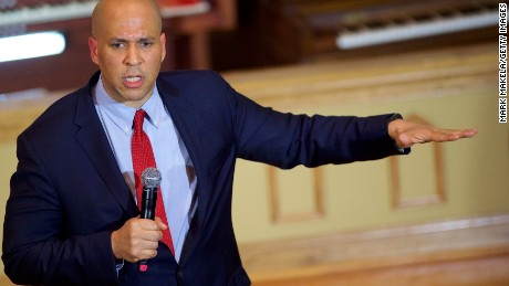 FLORENCE, SC - FEBRUARY 25:  Senator Cory Booker (D-NJ) speaks and introduces Democratic Presidential candidate, former Secretary of State Hillary Clinton at a Breaking Down Barriers Town Hall February 25, 2016 at the Cumberland United Methodist in Florence, South Carolina.  Last Saturday, the South Carolina GOP Presidential Primary shattered records with 137,092 more votes cast than in any previous primary.  (Photo by Mark Makela/Getty Images)