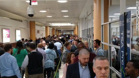 Rich Miller says the line for TSA PreCheck was 45 minutes long on Monday at Atlanta's Hartsfield-Jackson International Airport. He got there at 6:30 a.m. for his flight to Fort Walton Beach, Florida.