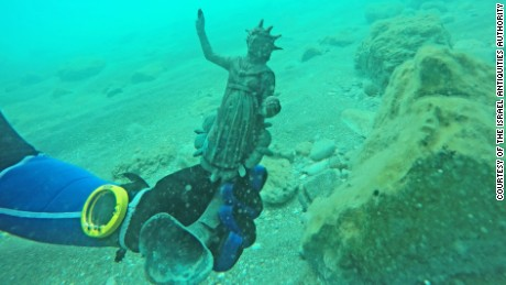 An Ancient Roman figurine discovered from the shipwreck.