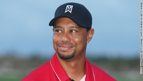 NASSAU, BAHAMAS - DECEMBER 06:  Tiger Woods of the United States waits on the 18th green after the final round of the Hero World Challenge at Albany, The Bahamas on December 6, 2015 in Nassau, Bahamas  (Photo by Scott Halleran/Getty Images)