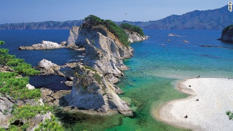 "It's easy to see why this stunning Iwate prefecture beach was named ""Jodogahama,"" or Pure Land. Located in Rikuchu Kaigan National Park, it's one of Japan's nationally designations places of scenic beauty."