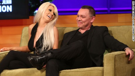 "TV personalities Courtney Stodden and Doug Hutchison attend the VH1 ""Couples Therapy"" With Dr. Jenn Reunion at GMT Studios on August 8, 2014 in Culver City, California."