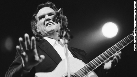Guy Clark, guitar-vocal, performs at the Paradiso on 9th January 1992 in Amsterdam, Netherlands. (Photo by Frans Schellekens/Redferns)