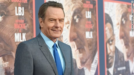 "Actor Bryan Cranston attends the ""All The Way"" Los Angeles Premiere at Paramount Studios on May 10, 2016 in Hollywood City."