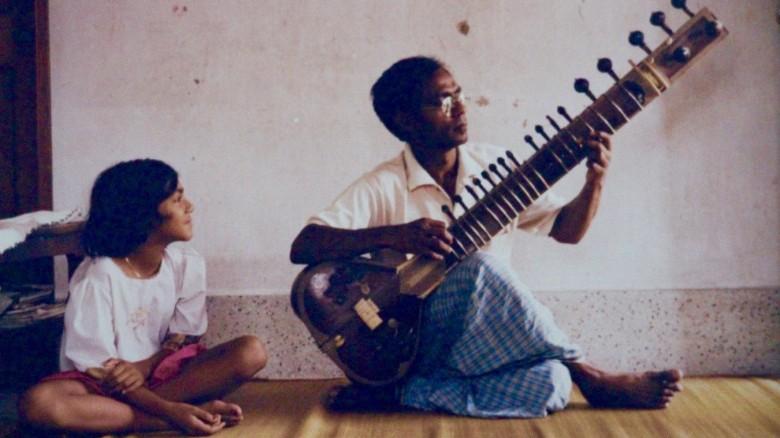 Rizwana Hasin with her late father, Rezaul Karim Siddique.