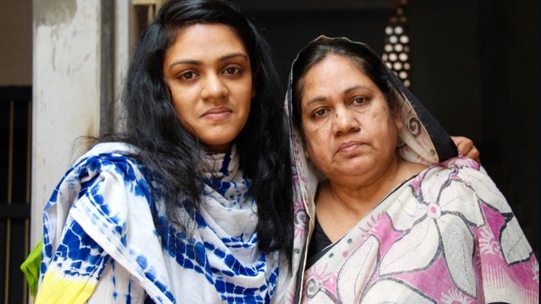 Widow, Hosne Ara Sheera, and daughter, Rizwana Hasin.