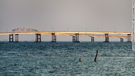 CHESAPEKE BAY BRIDGE, VIRGINIA, UNITED STATES - 2015/07/14: The Chesapeake Bay Bridge, Virginia, USA. (Photo by John Greim/LightRocket via Getty Images)