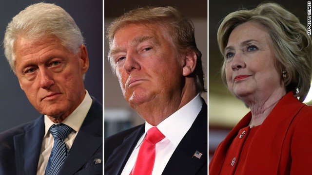 Image result for Bill, hillary clinton and donald trump
