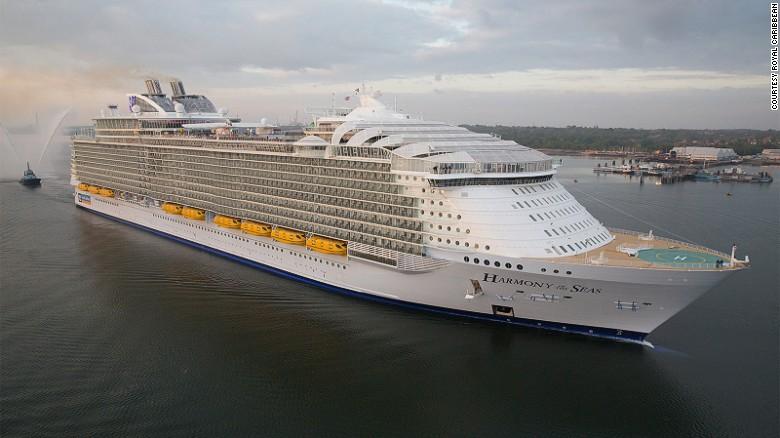 Harmony of the Seas é o mais recente navio de cruzeiro para ser coroado o mundo & # 39; s maior.