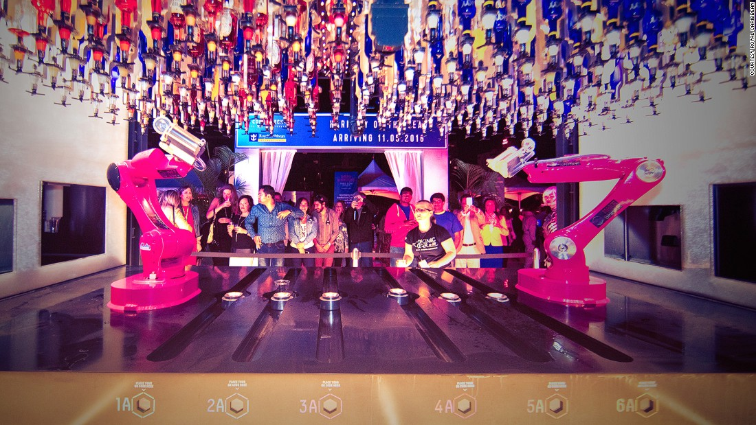 The Bionic Bar is staffed by two robot bartenders. They can make two drinks per minute and 1,000 drinks per day.