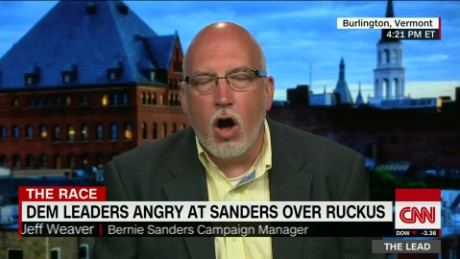 democrat presidential race divided party sanders campaign manager jeff weaver the lead_00014121