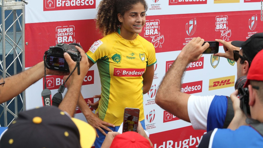 """In the favela from which she hails, she has become known as the """"lioness of the Olympics"""" and a role model for young girls. However, the teenager missed out on selection for the Games."""