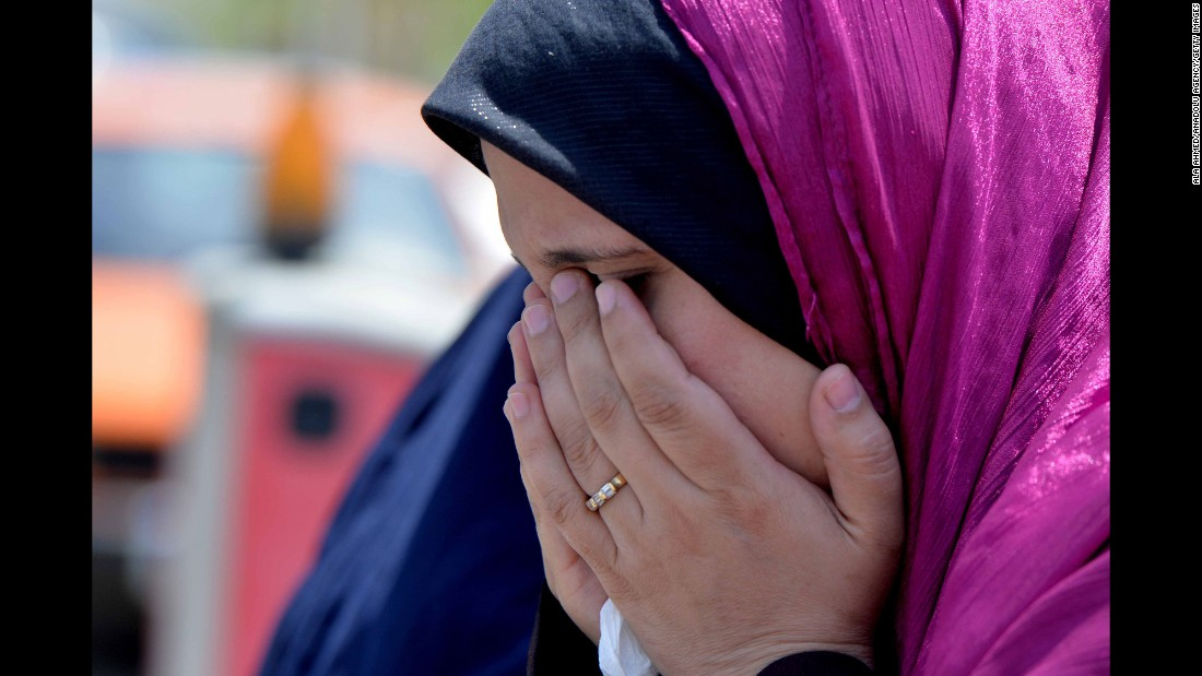 "A relative of a passenger on board missing EgyptAir Flight 804 waits for news at Cairo International Airport in Egypt on Thursday, May 19. The <a href=""http://www.cnn.com/2016/05/18/middleeast/egyptair-flight-disappears/index.html"" target=""_blank"">Airbus A320 vanished</a> from radar over the Mediterranean with 66 people aboard."