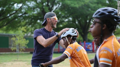 Hard 'Corps' cycling for at-risk kids
