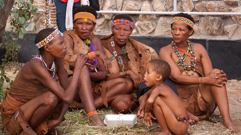 Today many Basarwa can be found in resettlement villages, where some struggle to pass on their traditions to the following generation. Sekele says that as children sent to school learn other languages, like English, there's a threat to their native tongue.