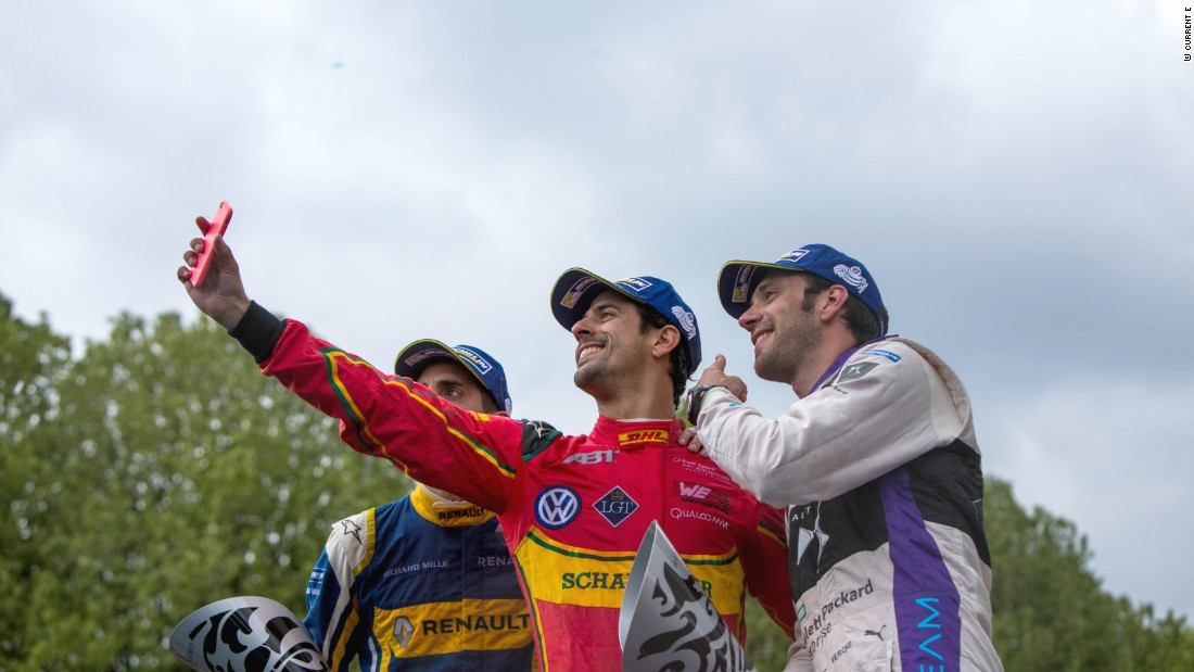 "Di Grassi triumphed in Paris as the French public embraced the excitement of Formula E. He said: ""The atmosphere here is amazing. Even people in houses were opening their windows to cheer me!"""