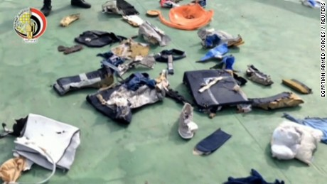 Egyptair flight debris video images _00000000