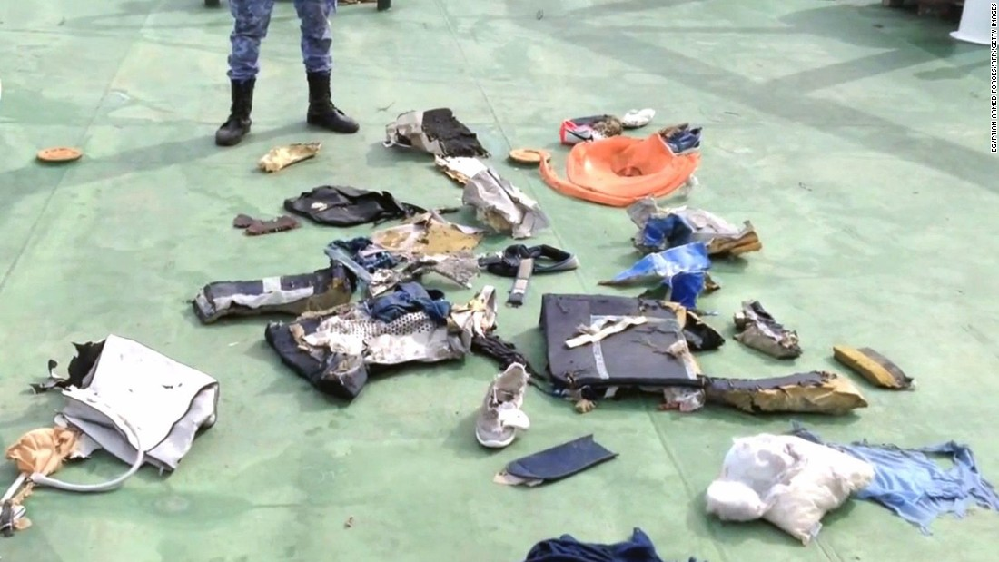 """Egyptian armed forces release video and images of debris, including personal belongings, believed to be from EgyptAir Flight 804 on Saturday, May 21. The <a href=""""http://www.cnn.com/2016/05/21/middleeast/egyptair-flight-804-main/index.html"""">Airbus A320 vanished</a> from radar over the Mediterranean Sea while en route from Paris to Cairo on Thursday, May 19, with 66 people aboard."""