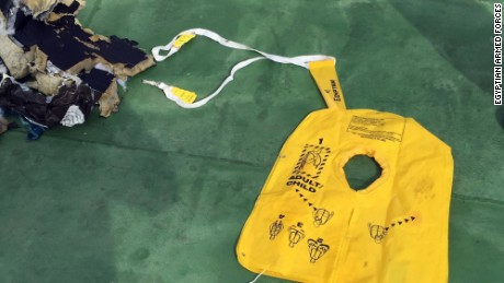 Still pictures show parts and some of the passengers belongings of the missing Egyptair that have been recovered from the Mediterranean sea.
