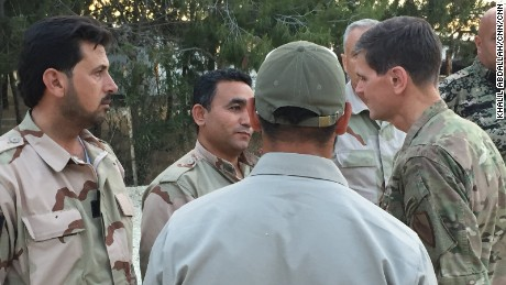 Gen. Votel meeting with Syrian Anti ISIS leaders inside Syria today.