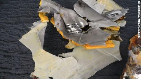Debris from EgyptAir flight 804.