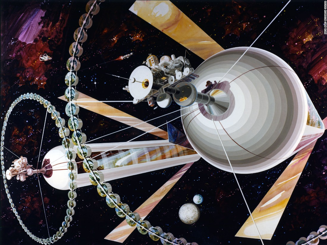 The Cylindrical Colony was never envisaged a solitary structure, instead orbiting with a partner.