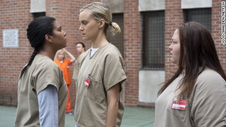 Jolene Purdy, Jessica Pimentel, and Taylor Schilling in Orange Is the New Black