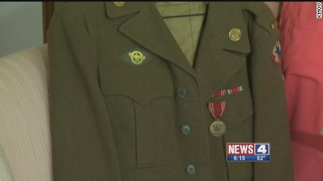 Kathy Bold of St. Louis, Missouri is searching for the rightful owner of a WWII army jacket.