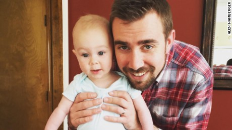 Alex Hamberger and his niece