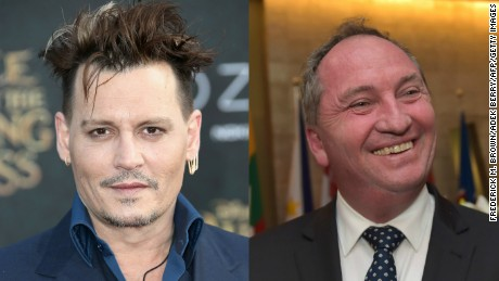 "Actor Johnny Depp said Australia's Deputy Prime Minister Barnaby Joyce looks ""inbred with a tomato."""