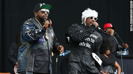 LONDON, ENGLAND - JULY 06:  Big Boi and Andre 3000 of Outkast perform on stage at Wireless Festival at Finsbury Park on July 6, 2014 in London, United Kingdom.  (Photo by Tim P. Whitby/Getty Images)