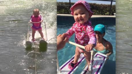 cnnee pkg video digital la joven esquiadora de seis meses de edad _00000000