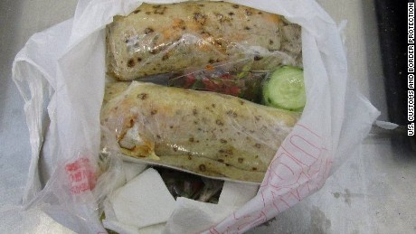Customs and Border Protection find meth burritos