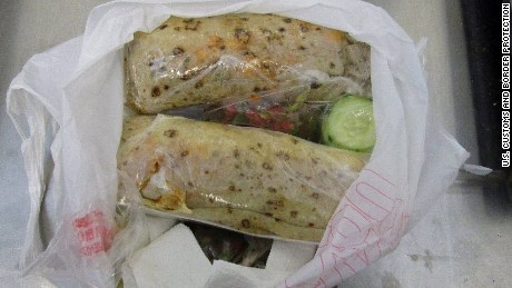 Border officials say a woman was busted for allegedly smuggling more than a pound of meth, disguised as burritos.Officers stopped the 23-year-old Nogales woman this weekend as she crossed the border through a pedestrian gate.