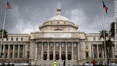 SAN JUAN, PUERTO RICO - JULY 01:  The Puerto Rican Capitol building is seen as the island's residents deal with the government's $72 billion debt on July 1, 2015 in San Juan, Puerto Rico. Governor of Puerto Rico Alejandro García Padilla said in a speech recently that the people of Puerto Rico will have to make sacrifices and share the responsibilities to help pull the island out of debt. (Photo by Joe Raedle/Getty Images)