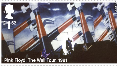 """""""The Wall"""" Tour animation, 1981.During the performance, these animations were projected onto a 40-foot high wall of cardboard bricks which was gradually built between the band and audience."""