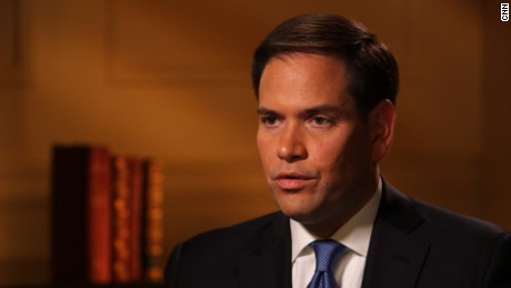 Sen. Marco Rubio (R-Florida) in an interview with CNN's Jake Tapper.