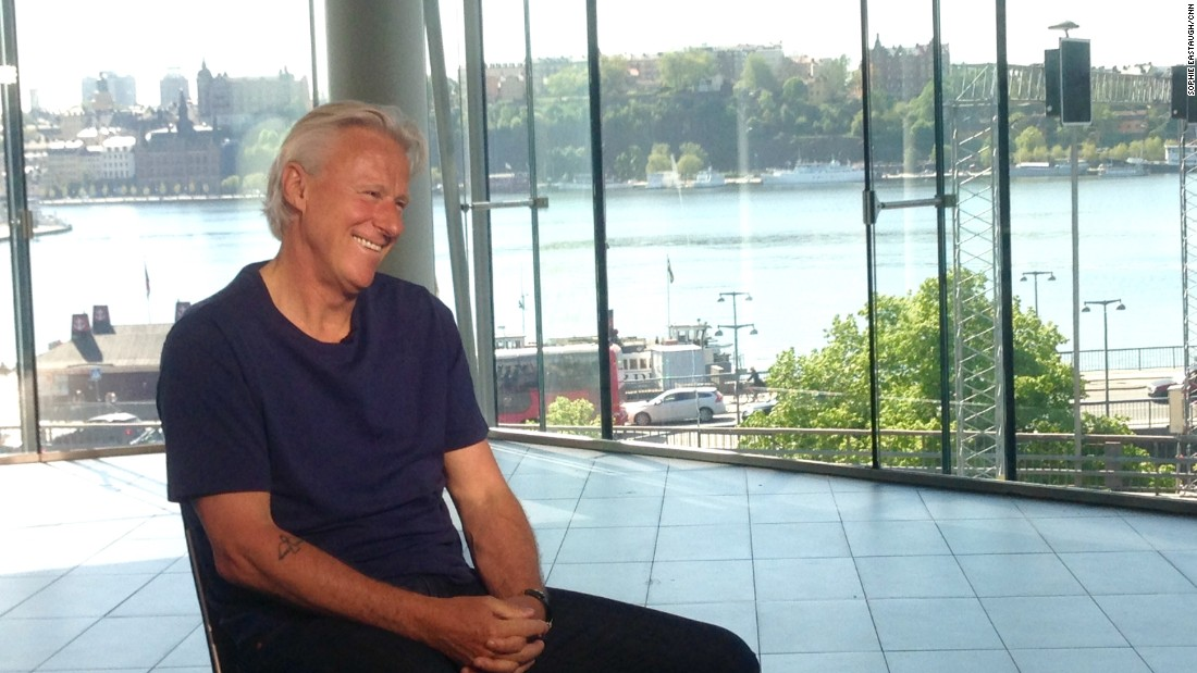 """Speaking to CNN Open Court's Pat Cash in Stockholm, Borg appeared relaxed and happy. """"During our time we didn't count (records) -- you know we could make so many, me, McEnroe, Connors. I was just thinking about playing tennis."""""""