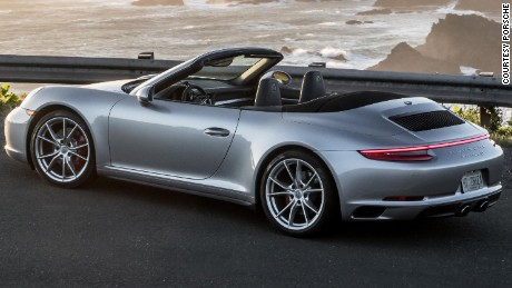 2017 911 Carrera Cabriolet 4S -- -- twin-turbo charged, liquid-cooled, super engine with all-wheel-drive.