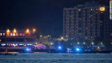 Search and rescue boats look for a small plane that went down in the Hudson River near the New Jersey shore.