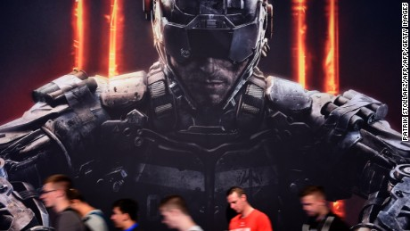 Gamers visit the stand of computer game Call of Duty at the Gamescom fair in Cologne, western Germany on August 7, 2015. The trade fair for interactive games is running until August 9, 2014. PHOTO / PATRIK STOLLARZ        (Photo credit should read PATRIK STOLLARZ/AFP/Getty Images)