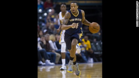 New Orleans Pelicans' Bryce Dejean-Jones, seen here during a game in Indianapolis earlier this year, died Saturday from a gunshot wound.