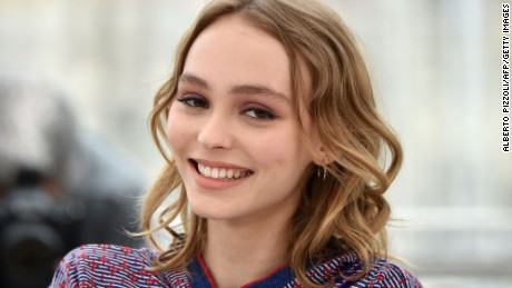 Lily-Rose Depp, the daughter of Johnny Depp, at the  69th Cannes Film Festival in Cannes, France on May 13.