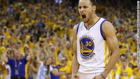 OAKLAND, CA - MAY 30:  Stephen Curry #30 of the Golden State Warriors reacts in the third quarter of Game Seven of the Western Conference Finals against the Oklahoma City Thunder during the 2016 NBA Playoffs at ORACLE Arena on May 30, 2016 in Oakland, California. NOTE TO USER: User expressly acknowledges and agrees that, by downloading and or using this photograph, User is consenting to the terms and conditions of the Getty Images License Agreement.  (Photo by Ezra Shaw/Getty Images)