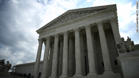 The U.S. Supreme Court is shown as the court meets to issue decisions May 23, 2016 in Washington, D.C.