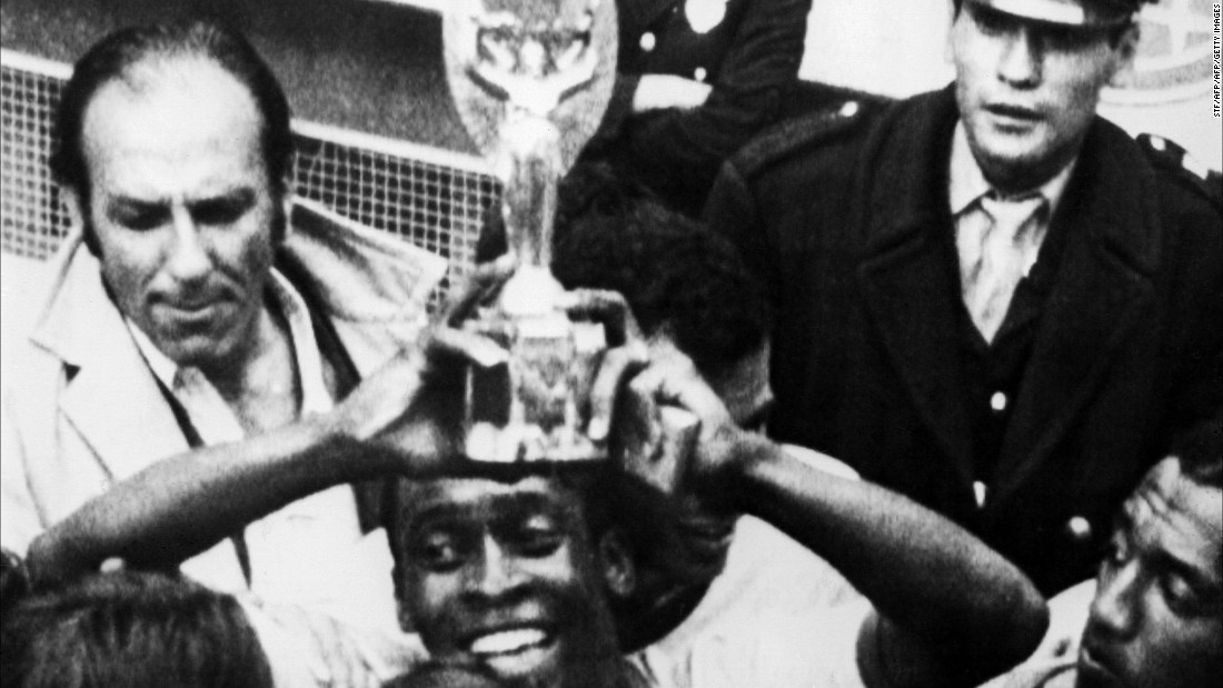 His collection includes a replica of the Jules Rimet trophy -- awarded to him after winning the 1970 final -- and is the most valuable item on sale at the auction in London. It is expected to sell for $600,000.