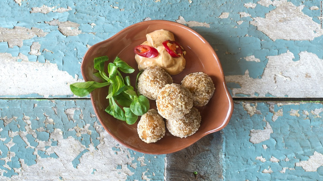 Fried yam balls are also on the menu at Zoe's Ghana Kitchen. Adjonyoh puts her own spin on traditional Ghanian recipes, inspired by the famous Kaneshi street market in Accra.