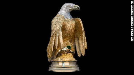 Diamond encrusted golden eagle valued in the millions, stolen on Vancouver streetSource: The World's Greatest Treasure Hunt
