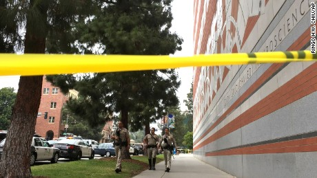 Sheriff deputies work at the scene of a fatal shooting at the University of California, Los Angeles, Wednesday, June 1, 2016, in Los Angeles. (AP Photo/Ringo H.W. Chiu)